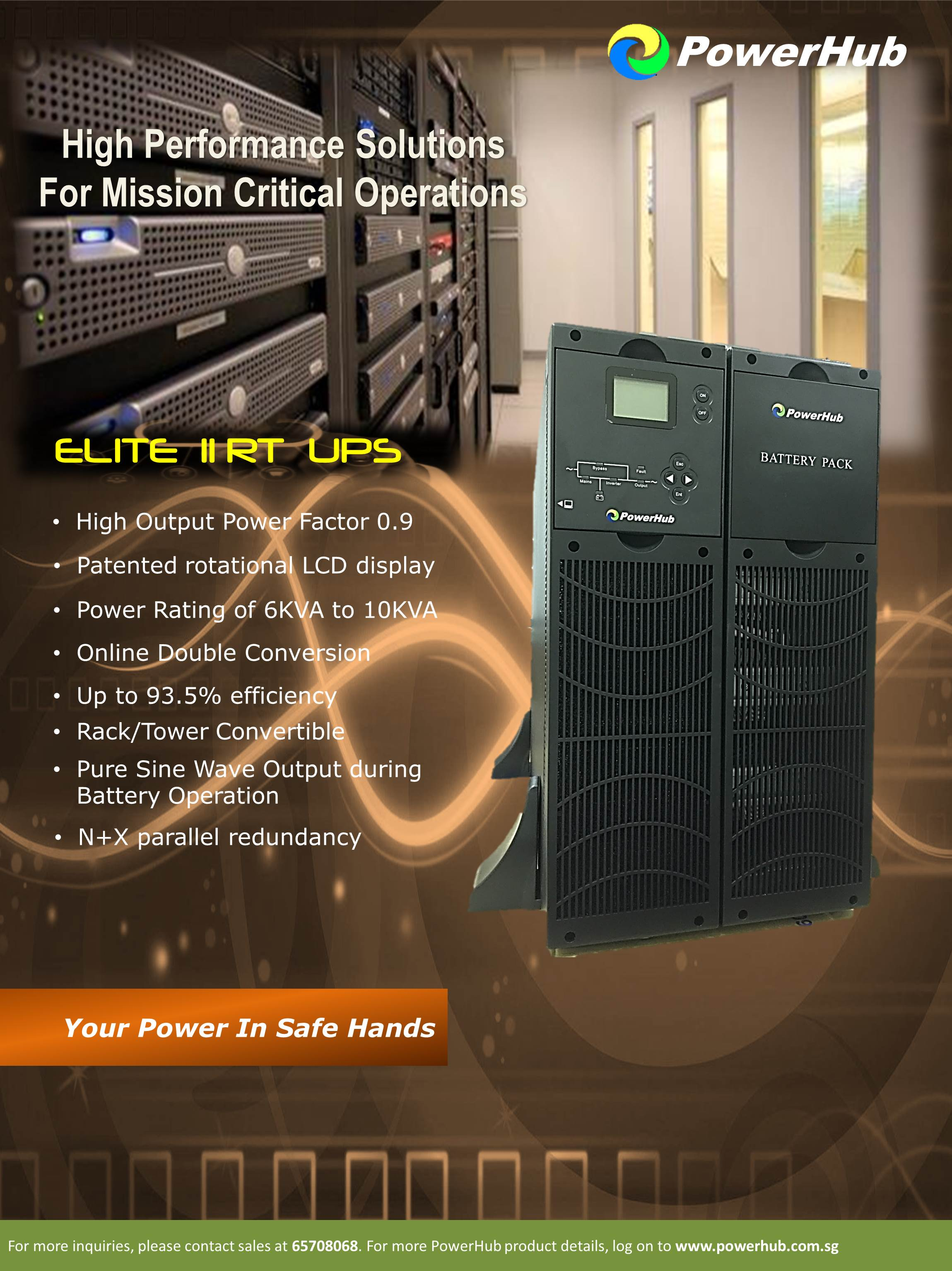 ELITE II RT UPS Rack/Tower