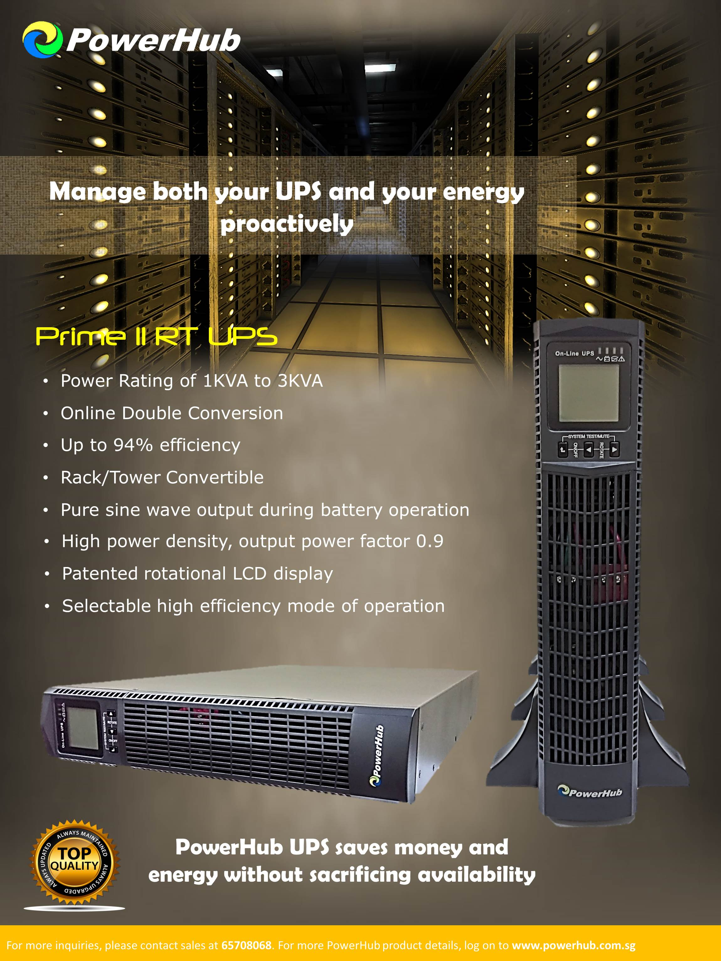 PRIME II RT UPS Rack/Tower